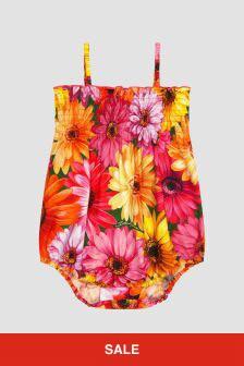 Dolce & Gabbana Kids Baby Girls Pink Rompersuit
