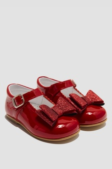 Andanines Girls Red Pumps