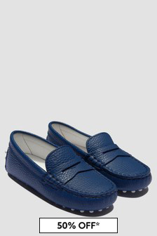 Tods Boys Blue Loafers