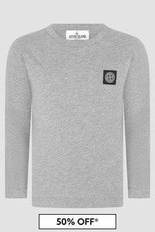 Stone Island Junior Boys Grey T-Shirt