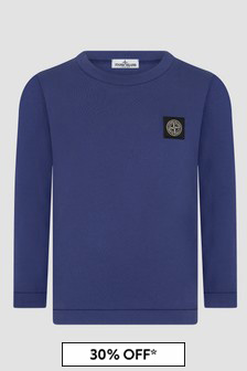 Stone Island Junior Boys Blue T-Shirt