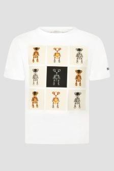 Burberry Kids Boys White T-Shirt