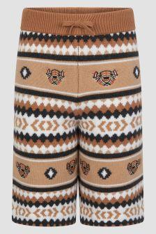Burberry Kids Boys Beige Shorts