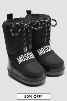 Moschino Kids White Boots