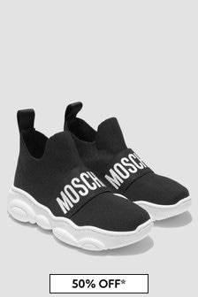 Moschino Kids Black Trainers