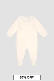 Bonpoint Baby Girls White Sleepsuit