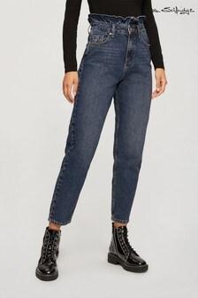 Miss Selfridge Regular Length Frill Top Mom Jeans