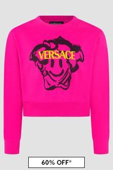 Versace Girls Fuchsia Sweat Top
