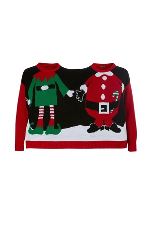 2 Person Christmas Sweater.Buy Boohoo Two Person Christmas Jumper From Next Usa
