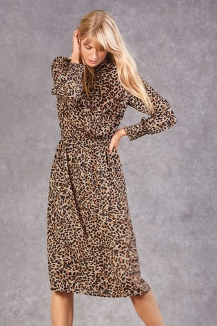 Buy Animal Print High Neck Dress From The Next Uk Online Shop