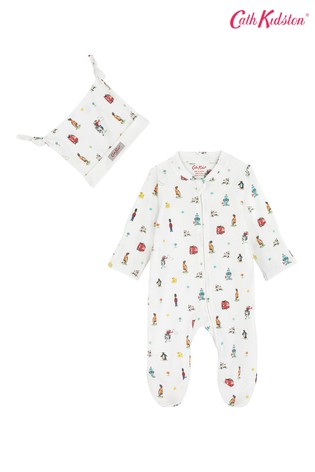09fc02f61 Cath Kidston® Icons Sleepsuit And Hat Set