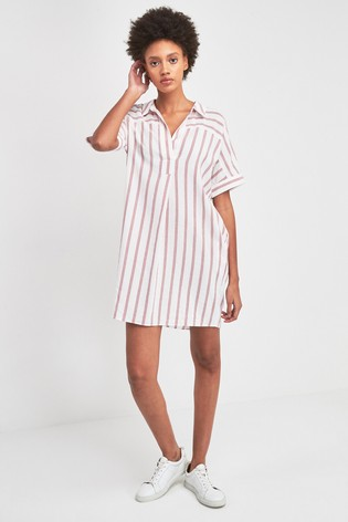 e1a4110e0f Buy Whistles Red And White Sabrina Stripe Dress from Next Poland