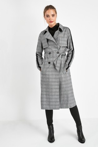 Superdry Grey Check Trench Coat by Next