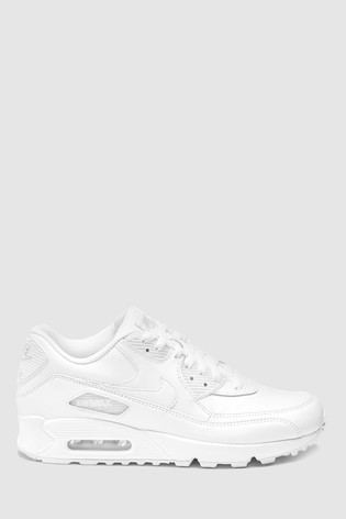hot sale online 4986c 58963 Nike White Air Max 90 Trainers