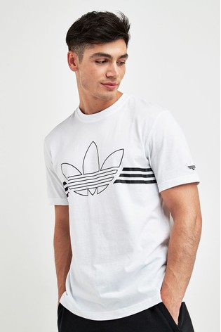 fashion styles professional sale reputable site adidas Originals White Outline Trefoil T-Shirt