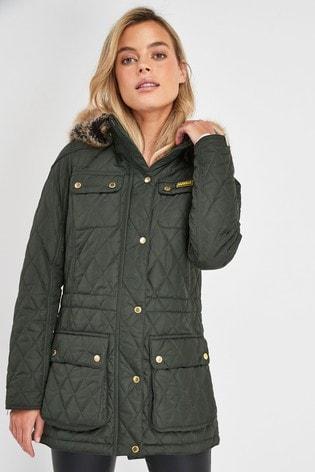 Barbour® International Moto Green Enduro Quilted Jacket