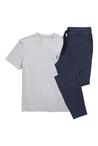 9db16ce3f4aab0 Grey Jersey Long Pyjama Set