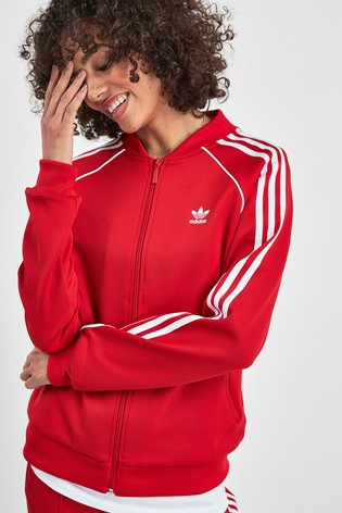 size 40 14060 3da0a adidas Originals Red Superstar Track Top