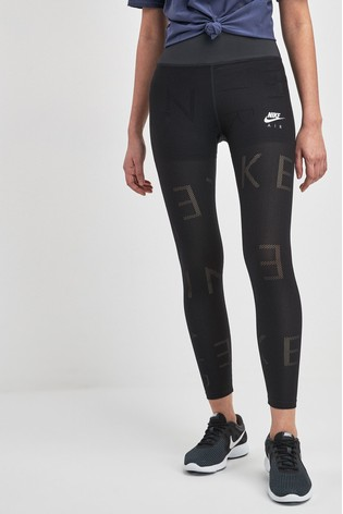 new arrivals authorized site hot sales Nike Air Black Mesh 7/8 Running Leggings