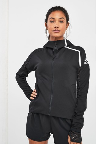 best cheap many styles timeless design adidas ZNE Black Zip Through Hoody