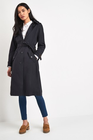 Lauren Ralph Lauren® Navy Maxi Hooded Trench Coat by Next