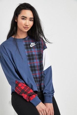 Kaufen Sie Nike Jacke mit Synthetik Füllung und Karomuster