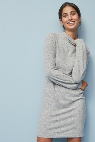 big discount sale shop for authentic the best attitude Grey Cosy High Neck Jumper Dress
