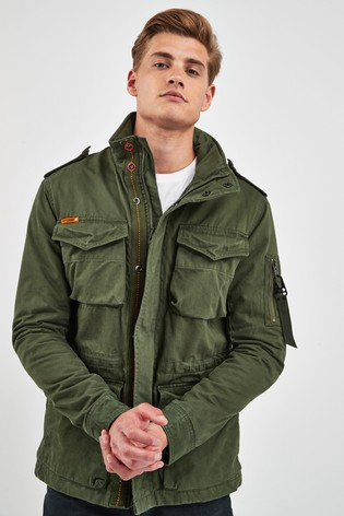best deals on the latest great deals Superdry Green Rookie Jacket