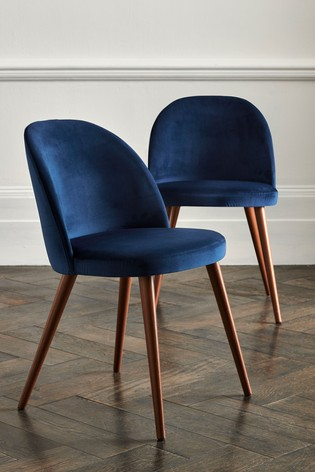 Velvet Navy Blue Dining Chairs