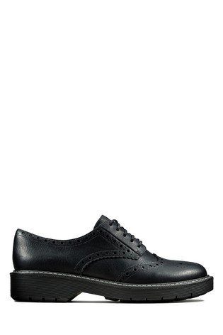 Clarks Black Witcombe Echo Shoe by Next