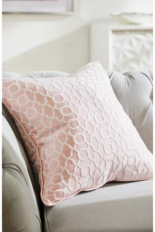Woven Geo Jacquard Cushion by Next