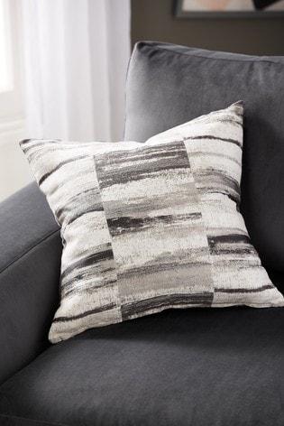 Chenille Block Stripe Cushion by Next
