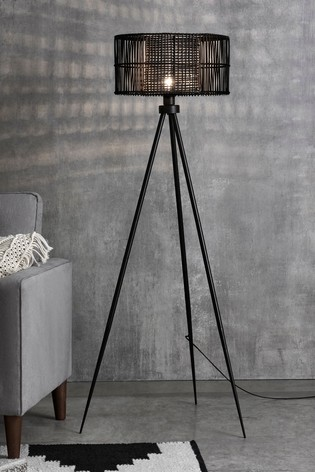 Kai Rattan Tripod Floor Lamp by Next