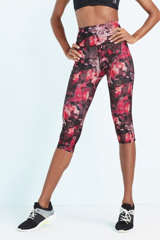 9d44353296dc Buy Floral Print Technical Capri Leggings from Next USA