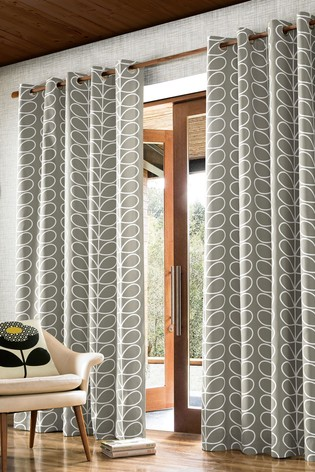 Orla Kiely Linear Stem Geo Eyelet Curtains