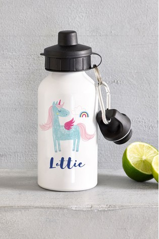 Personalised Unicorn Drinks Bottle by Loveabode