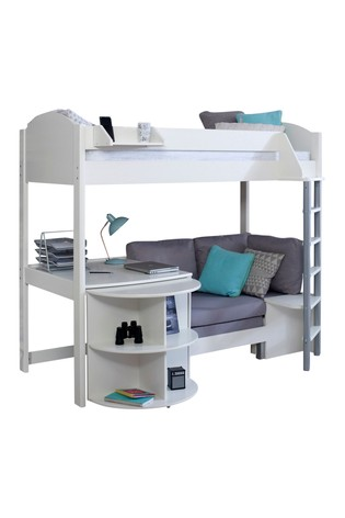 Noah D White High Sleeper by Kids Avenue