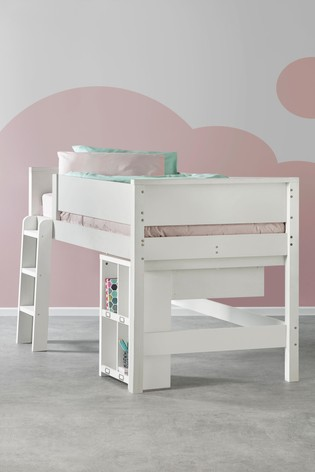 buy popular f30c3 9ea2e Compton Mid Sleeper Single Bed Frame with Desk