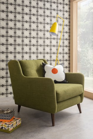 Orla Kiely Fern Chair with Walnut Feet