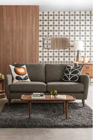 Orla Kiely Fern Large Sofa with Walnut Feet
