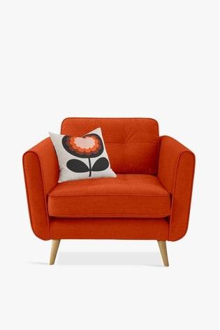 Orla Kiely Ivy Chair with Oak Feet