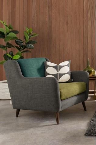 Orla Kiely Fern Snuggle Sofa with Oak Feet