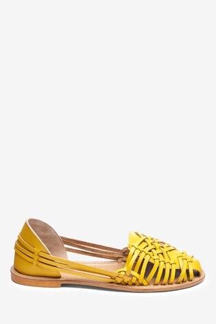Ochre Huarache Shoes Leather Huarache Leather Ochre Woven Woven Woven Huarache Ochre Leather Shoes ulT1cFK3J