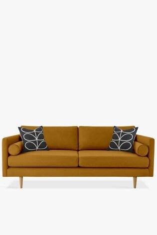 Orla Kiely Mimosa Large Sofa With Oak Feet