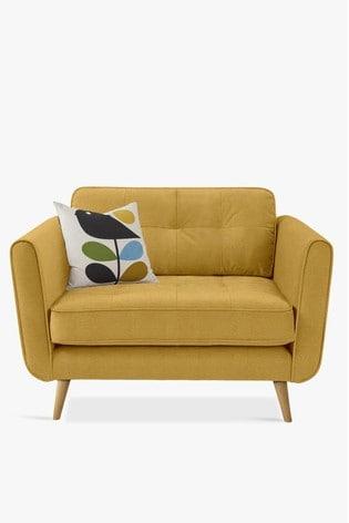 Orla Kiely Ivy Snuggle Sofa with Oak Feet