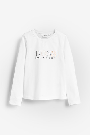 on wholesale size 40 free delivery BOSS by Hugo Boss White Logo T-Shirt