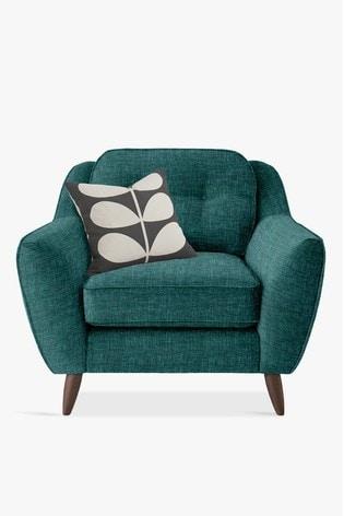 Orla Kiely Laurel Chair with Walnut Feet