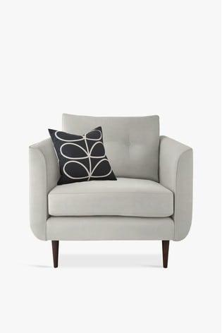 Orla Kiely Linden Chair with Walnut Feet