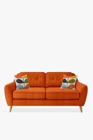 Orla Kiely Laurel Medium Sofa with Oak Feet