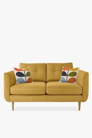 Orla Kiely Linden Small Sofa With Oak Feet
